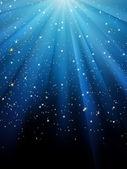 étoiles sur fond rayé bleu. eps 8 — Vecteur