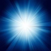 A Blue color design with a burst. EPS 8 — Stock vektor