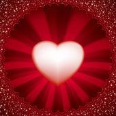 Matt röd härden för valentin dag. eps 8 — Stockvektor