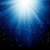 Neve e estrelas estão caindo. eps 8 — Vetorial Stock