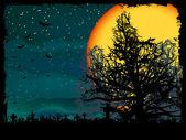Poster illustrazione di halloween. eps 8 — Vettoriale Stock