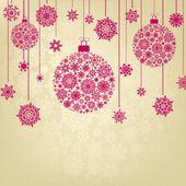 Stylized Christmas Balls. EPS 8 — Stock Vector