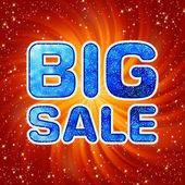 Big sale message. EPS 8 — Stock Vector