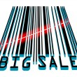 Big Sale bar code concept with laser light. EPS 8 - Stock Vector