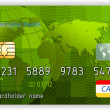 Stok Vektör: Credit cards, front view (no transparency). EPS 8