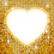 Royalty-Free Stock Vector Image: Gold frame in the shape of heart. EPS 8