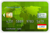 Credit cards, front view (no transparency). EPS 8 — Vector de stock