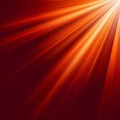 Red luminous rays. EPS 8 — Stock Vector