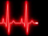 Red heart beat. Ekg graph. EPS 8 — Stock Vector