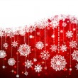 Christmas background with snowflakes. EPS 8 — Stock vektor