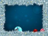Christmas frame. EPS 8 — Stock Vector