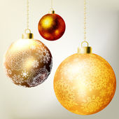 Golden Christmas balls template. EPS 8 — Stock Vector