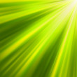 Green luminous rays. EPS 8 - Stockvectorbeeld