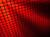 Red rays light 3D mosaic. EPS 8 — Vector de stock