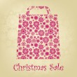 Bag For Shopping With snowflakes. EPS 8 - Stock Vector
