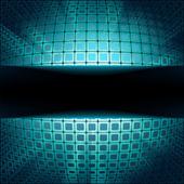 Carrés de technologie avec flare bleu fait irruption. EPS 8 — Vecteur