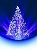 Noel ağacı kartı. eps 8 — Stok Vektör