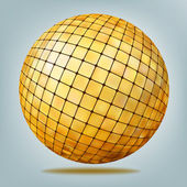Golden disco ball. EPS 8 — Stock Vector