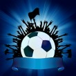 Royalty-Free Stock Imagen vectorial: Grunge Soccer Ball background. EPS 8
