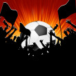 Royalty-Free Stock Imagen vectorial: Football fans crowd. EPS 8