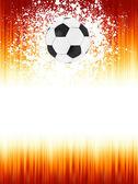 Bannière de football avec le ballon. Eps 8 — Vecteur