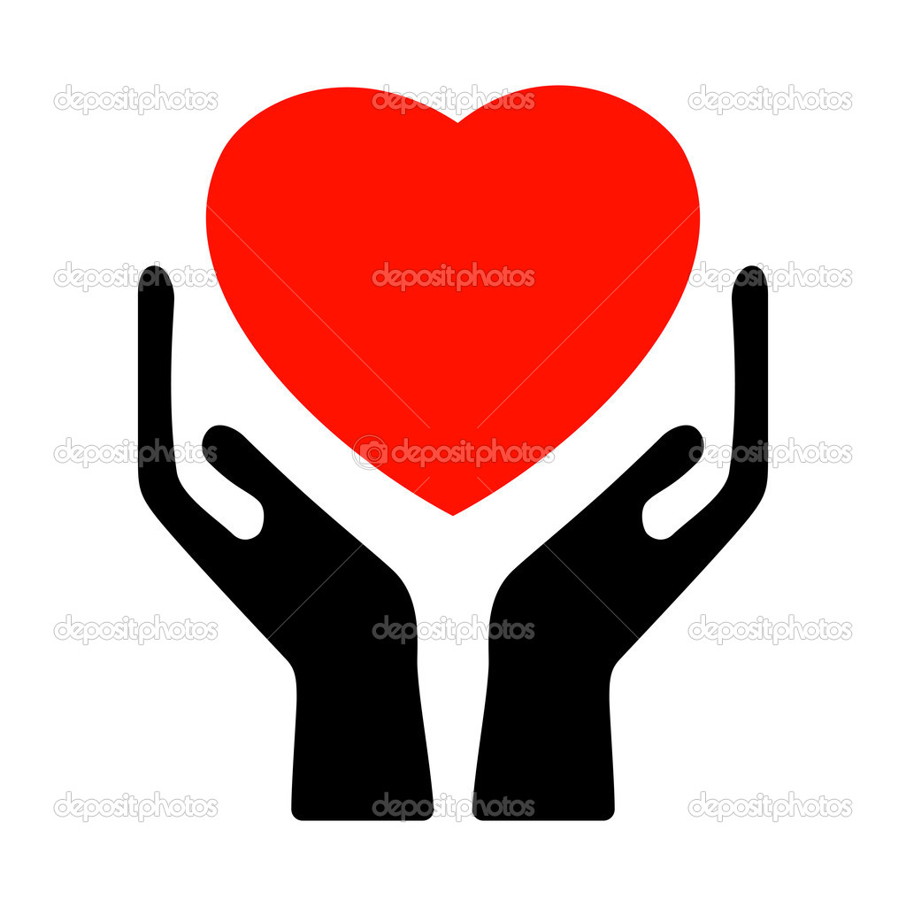 Hands holding the heart. EPS 8 vector file included — Stock Vector #4602965