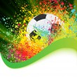 Royalty-Free Stock Imagen vectorial: Soccer background with copyspace. EPS 8