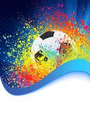 与 copyspace 的足球背景。8 eps — 图库矢量图片