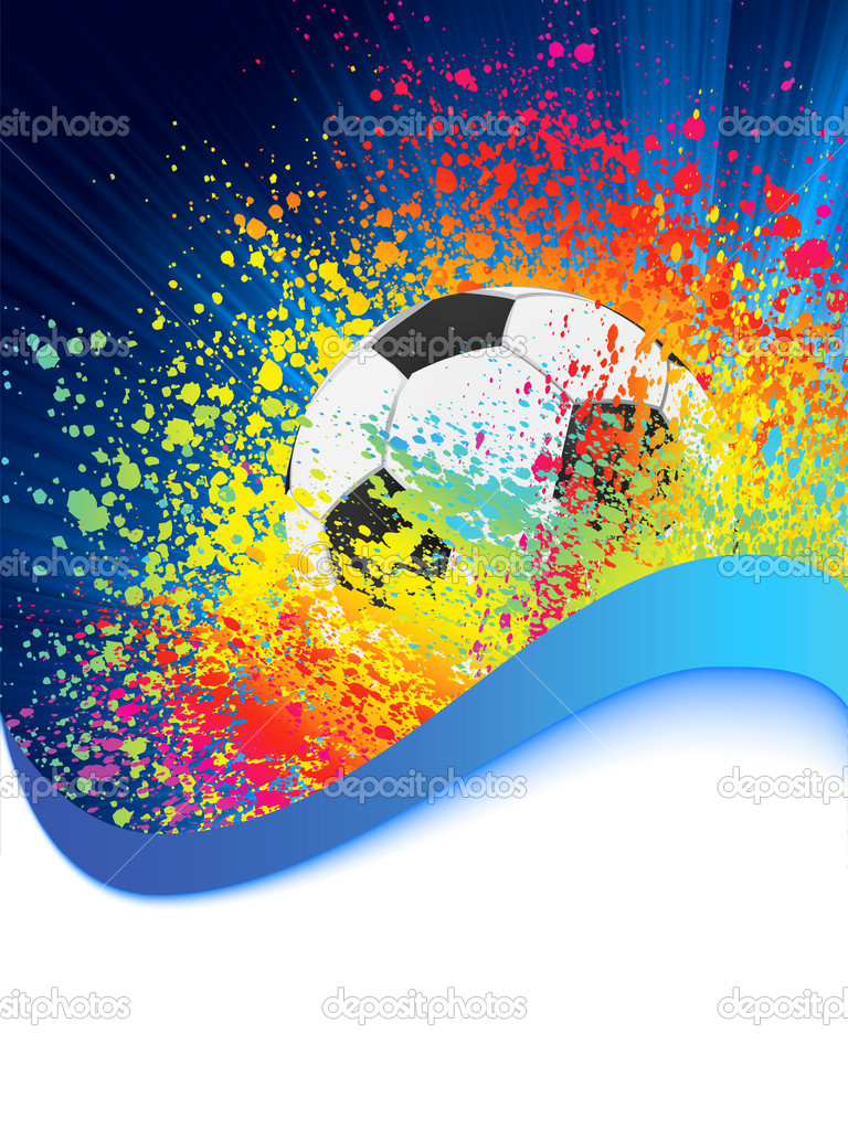 Soccer background with copyspace. EPS 8 vector file included — Stock Vector #4639222
