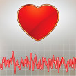 Royalty-Free Stock Vektorfiler: Heart and heartbeat symbol. EPS 8