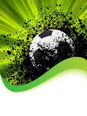 Poster di calcio grunge con pallone da calcio. eps 8 — Vettoriale Stock