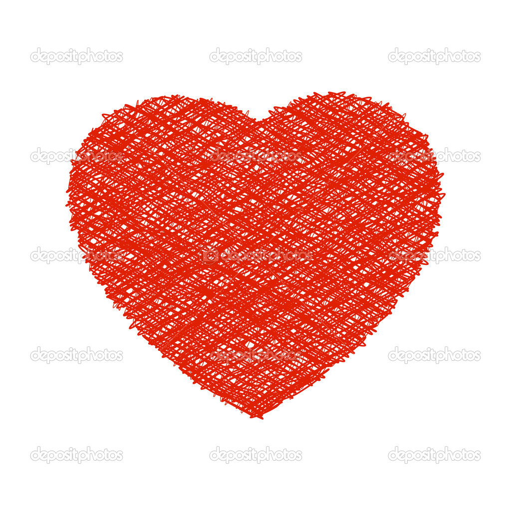 Weaving red heart. EPS 8 vector file included — Stock Vector #4662811