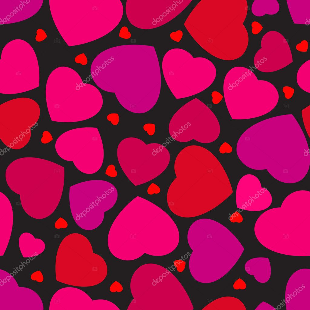 Seamless pattern with hearts. EPS 8 vector file included — Stock Vector #4663130