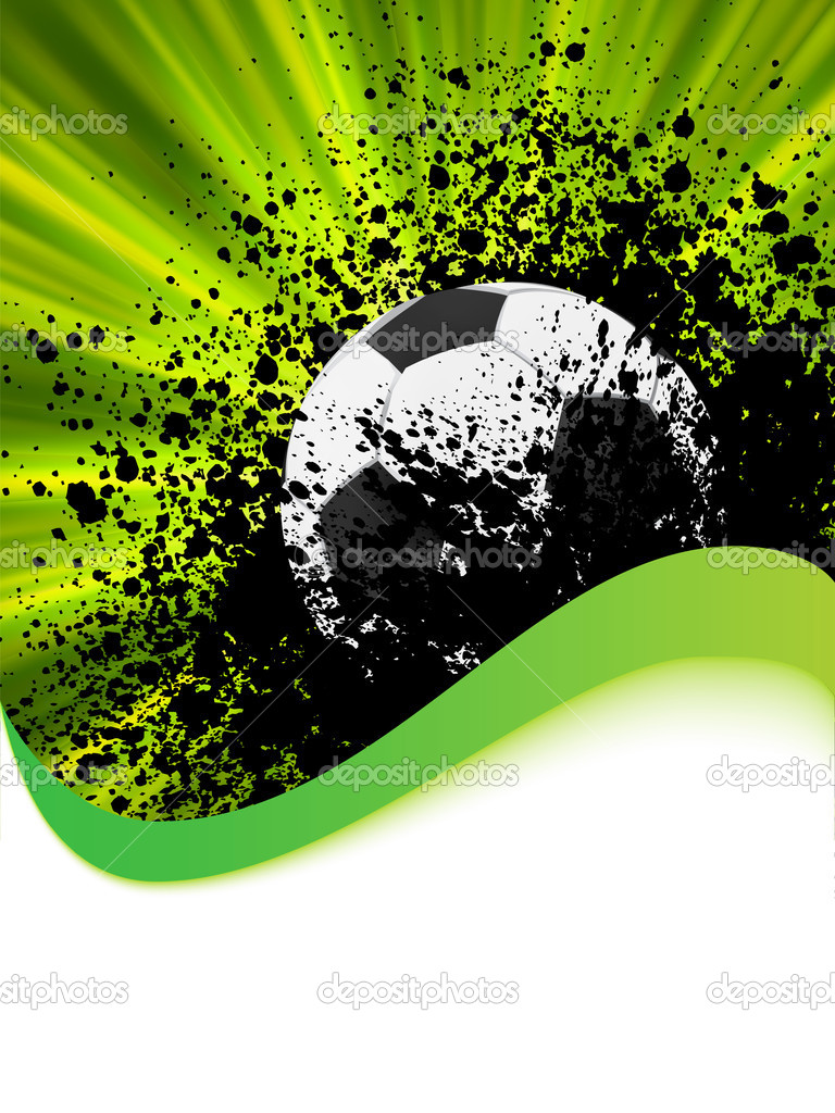 Grunge football poster with soccer ball. EPS 8 vector file included  — Векторная иллюстрация #4664464