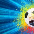 Soccer background with copyspace. EPS 8 — 图库矢量图片