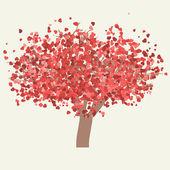 Vector valentine tree. EPS 8 — Stock Vector