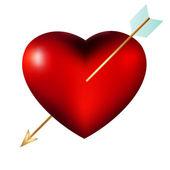 Heart with Arrow isolated. EPS 8 — Stock Vector