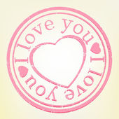 Grunge Stamp: I Lov — Vector de stock