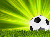Football or soccer ball on grass. EPS 8 — Stock Vector