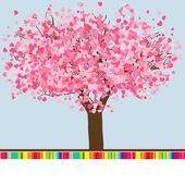 Modello di carta di matrimonio o san valentino. eps 8 — Vettoriale Stock