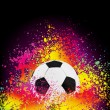 Colorful background with a soccer ball. EPS 8 - Imagen vectorial