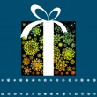 Christmas card with gift box. EPS 8 — Image vectorielle