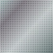 Glossy chrome grid with disc-shaped holes. EPS 8 — Imagen vectorial
