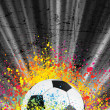 Football poster light burst. EPS 8 - Stock Vector