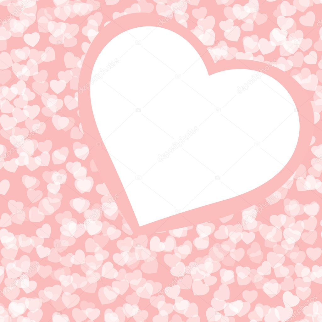 Romantic valentine background template. EPS 8 vector file included — Векторная иллюстрация #4771775
