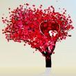 Valentine tree beautiful design template. EPS 8 — Stock Vector