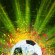 Vector de stock : Soccer background with copyspace. EPS 8