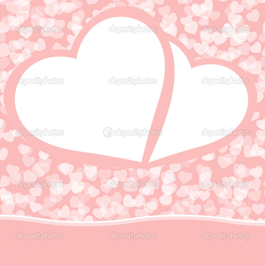 Romantic valentine background template. EPS 8 vector file included — Stock Vector #4792418