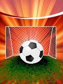 Cartaz de futebol com bola de futebol. eps 8 — Vetor de Stock
