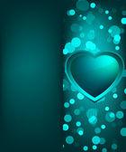 Kalp günü sevgililer günü kartı. eps 8 — Stok Vektör